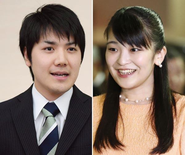 眞子さま(右)と小室圭さん(C)共同通信社