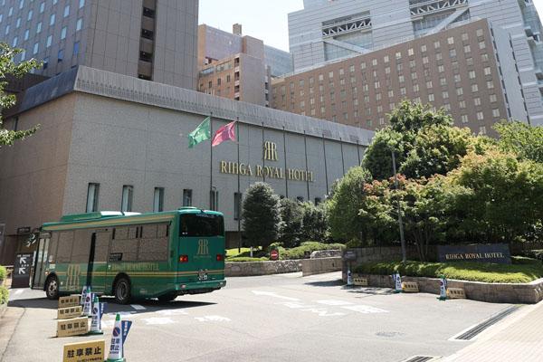 定宿にしていたリーガロイヤルホテル大阪(C)日刊ゲンダイ