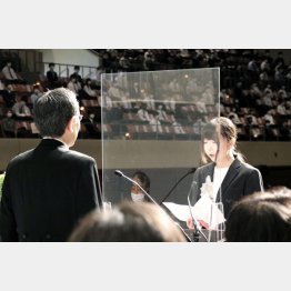 8月に行われた東北大学の入学式(C)共同通信社