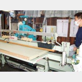 最新の機械で糸打ち(提供写真)