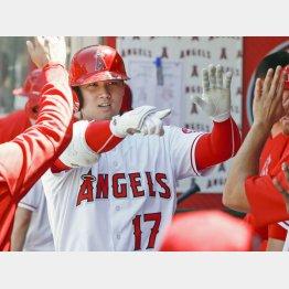 投手として9勝、打者として46本塁打をマークして全米の注目を集めた(C)共同通信社