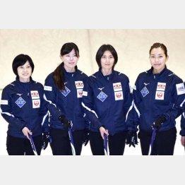北海道銀行が契約終了を発表した4人(左から船山、小野寺、吉村、近江谷)/(C)共同通信社