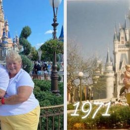 米ディズニーワールド50周年!母子のビフォー&アフター写真が話題に
