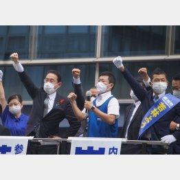 静岡市で街頭演説する岸田首相(C)日刊ゲンダイ