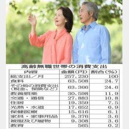 高齢無職世帯の消費支出