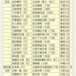 当落線上にいる大物議員21人(C)日刊ゲンダイ