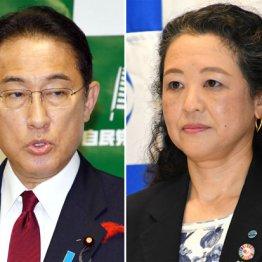 連合は、芳野友子会長(右)の「自民党寄り言動」について解説すべきだ(岸田首相と同会長)