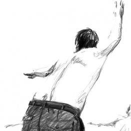 <17>若い肉体にまじって保安体操の腕を振る